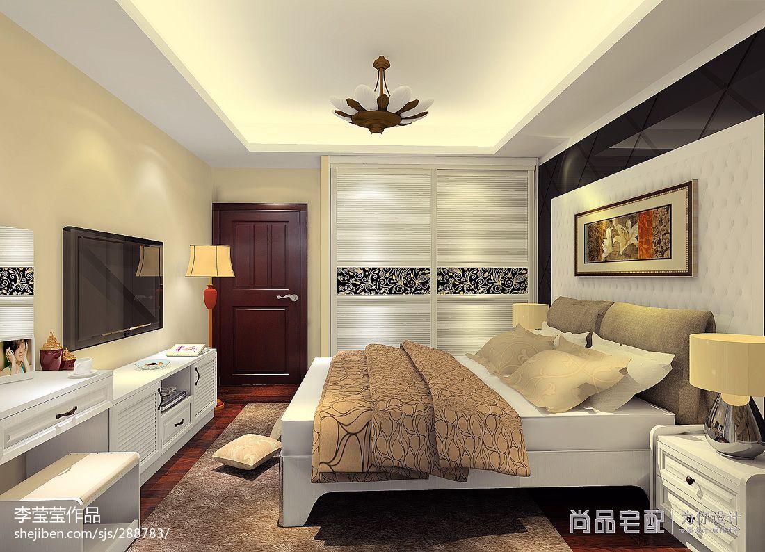 质朴32平新古典小户型卧室设计美图卧室美式经典卧室设计图片赏析