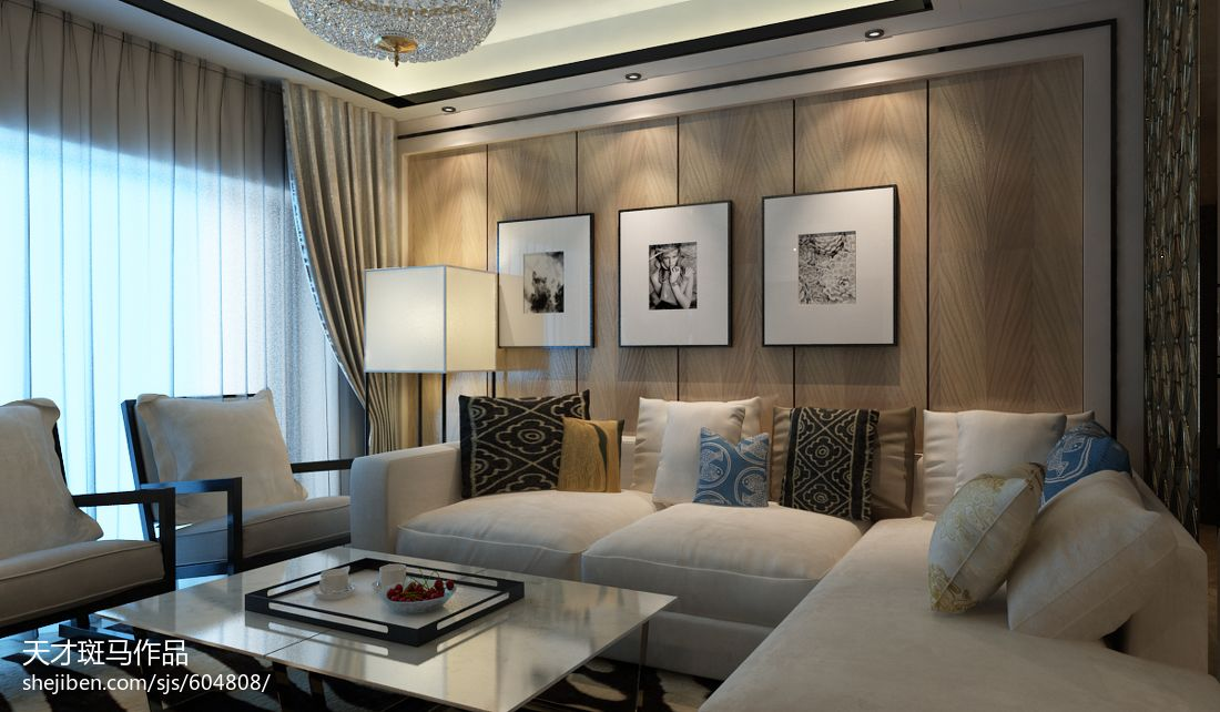 平现代别墅客厅装饰图客厅现代简约客厅设计图片赏析