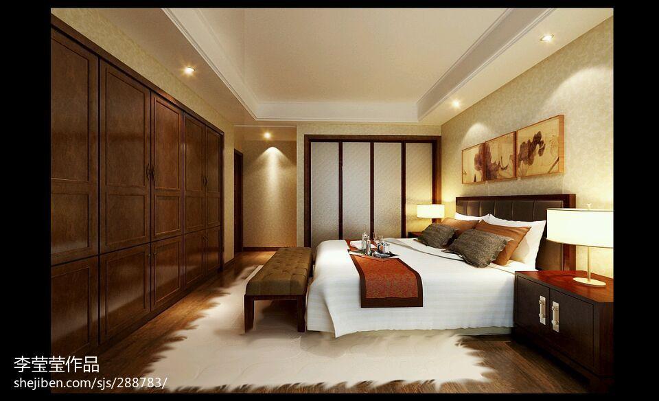 2018面积81平小户型卧室新古典装修效果图片欣赏卧室美式经典卧室设计图片赏析