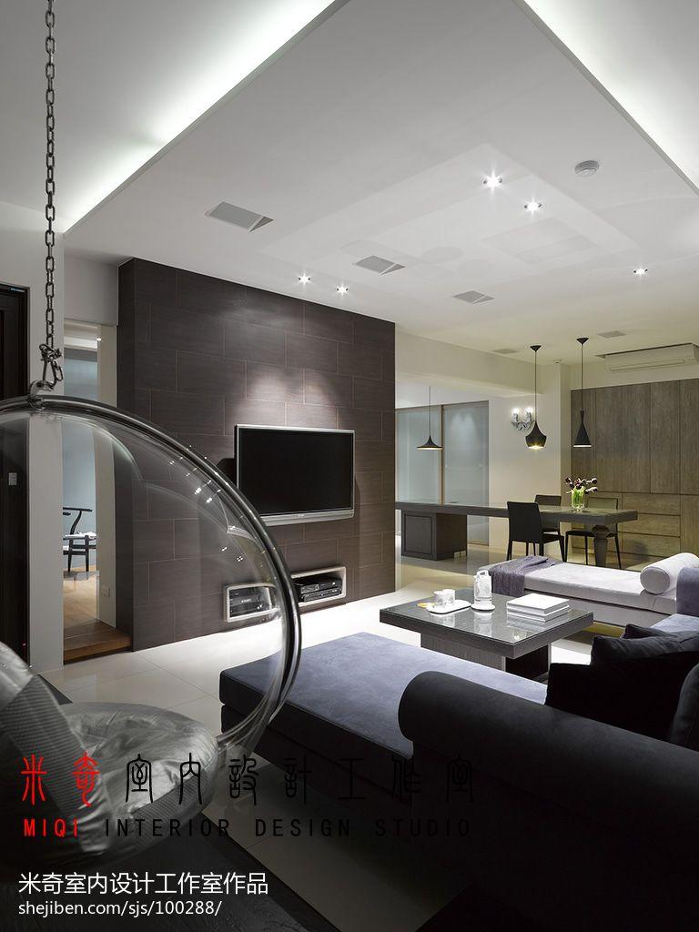 103.8平精美现代客厅效果图片大全客厅现代简约客厅设计图片赏析