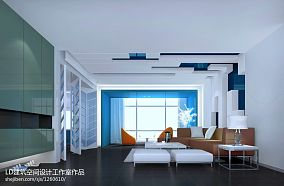 低调简欧风格客厅灯具图片