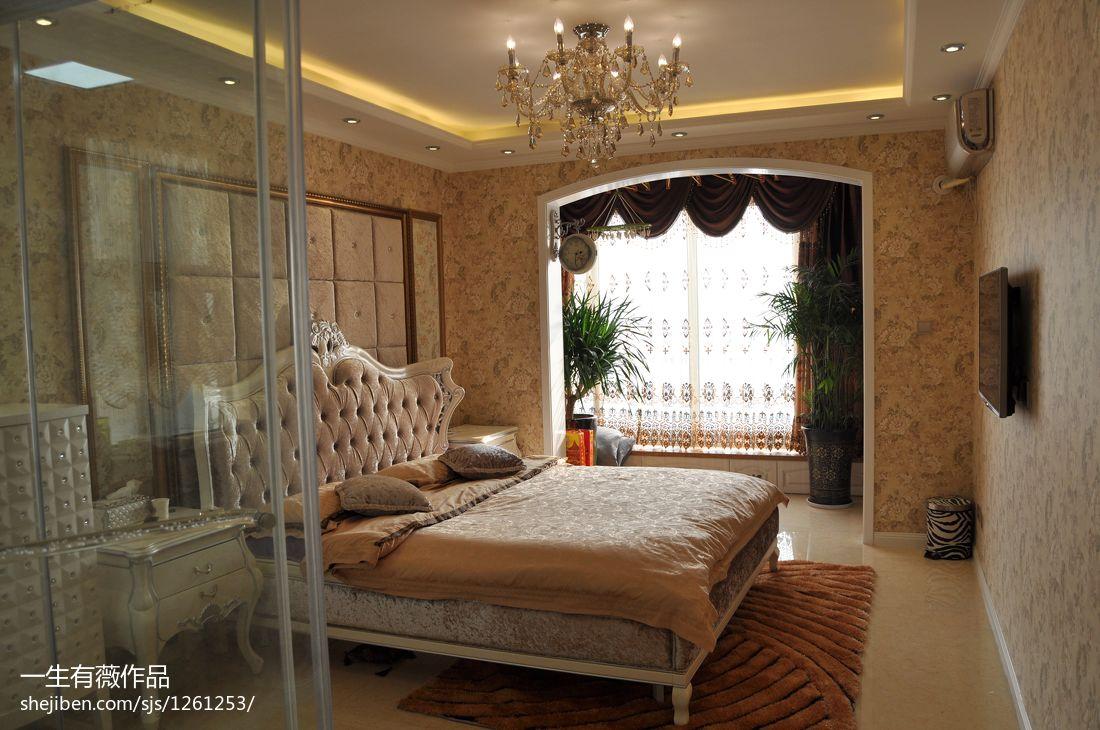 大气101平欧式三居卧室布置图卧室欧式豪华卧室设计图片赏析