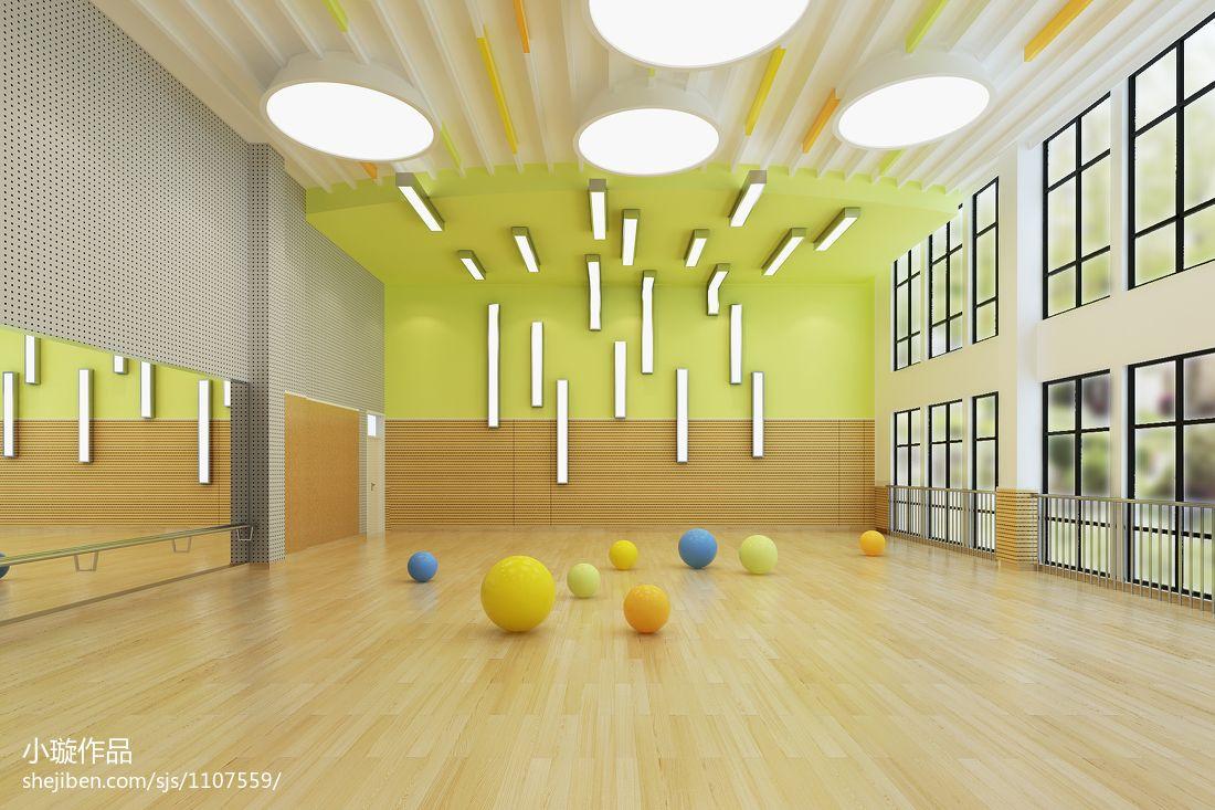 幼儿园音体教室环境布置教育机构设计图片赏析