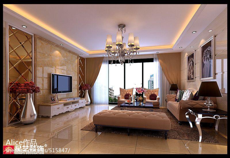 热门122平米四居客厅欧式装修图片客厅欧式豪华客厅设计图片赏析