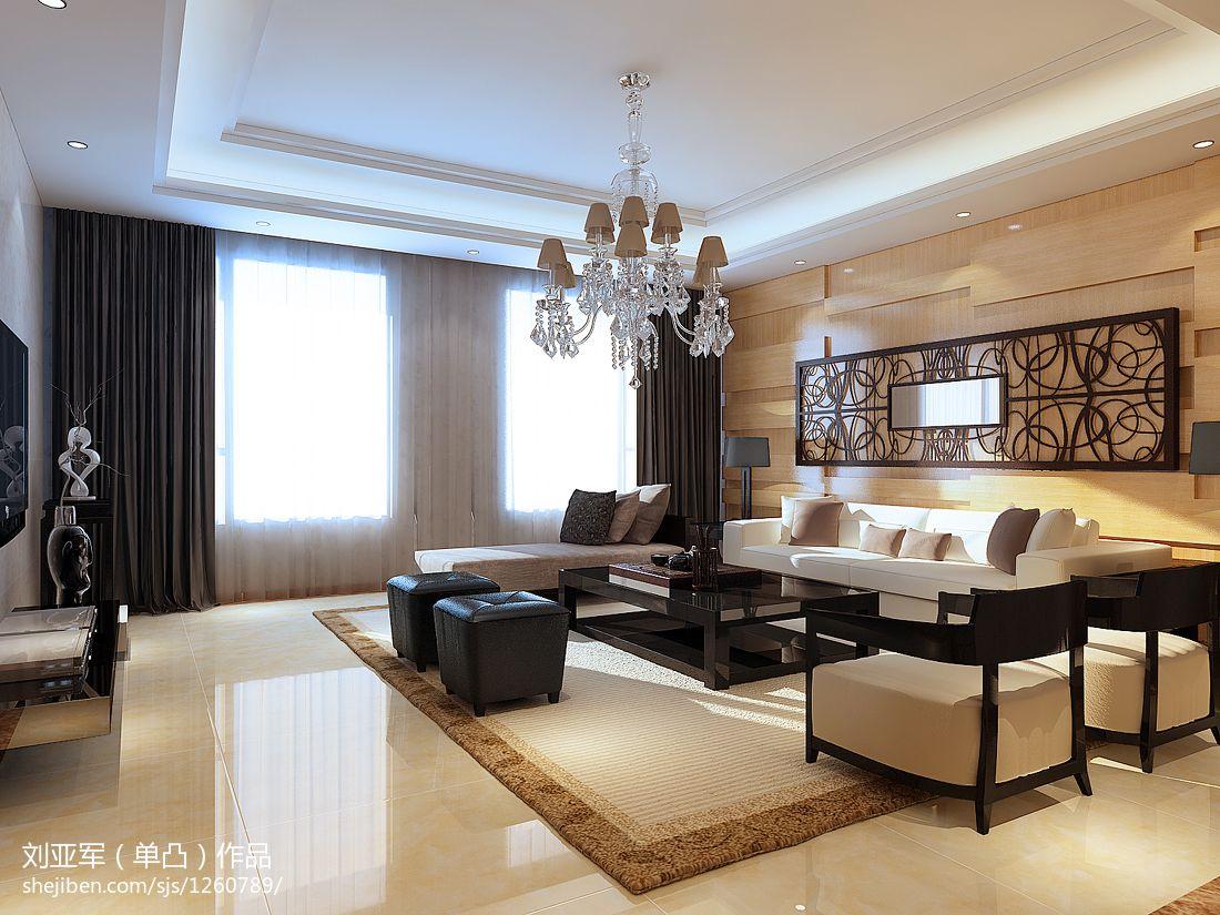 精美面积136平别墅客厅美式实景图片欣赏客厅美式经典客厅设计图片赏析