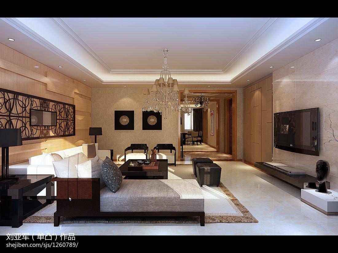 2018精选142平米美式别墅客厅设计效果图客厅美式经典客厅设计图片赏析