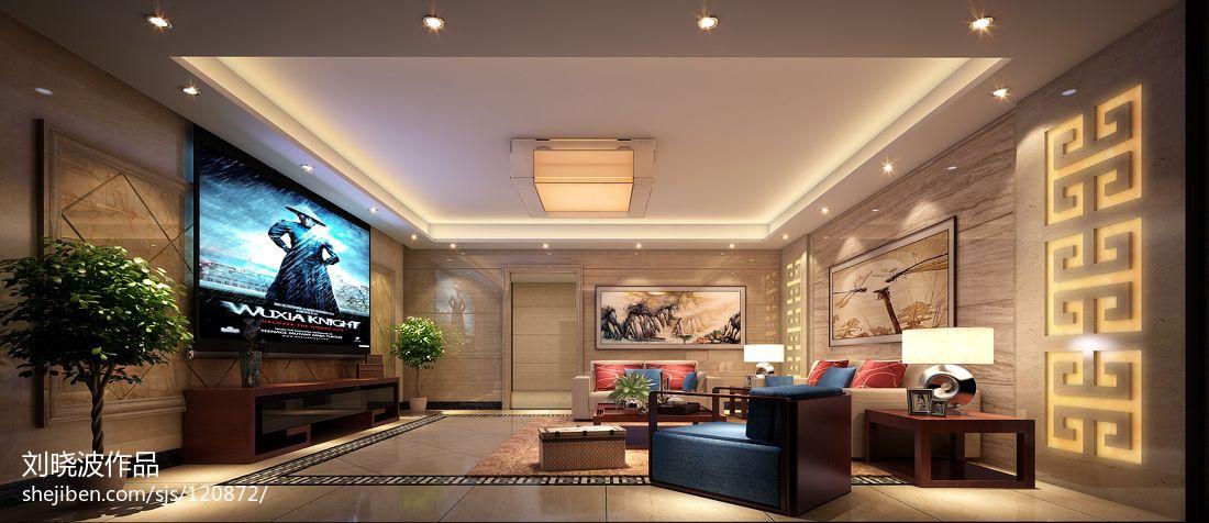 大气538平中式别墅装修设计图功能区中式现代功能区设计图片赏析