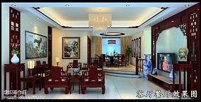 美式风格客厅精装修图片