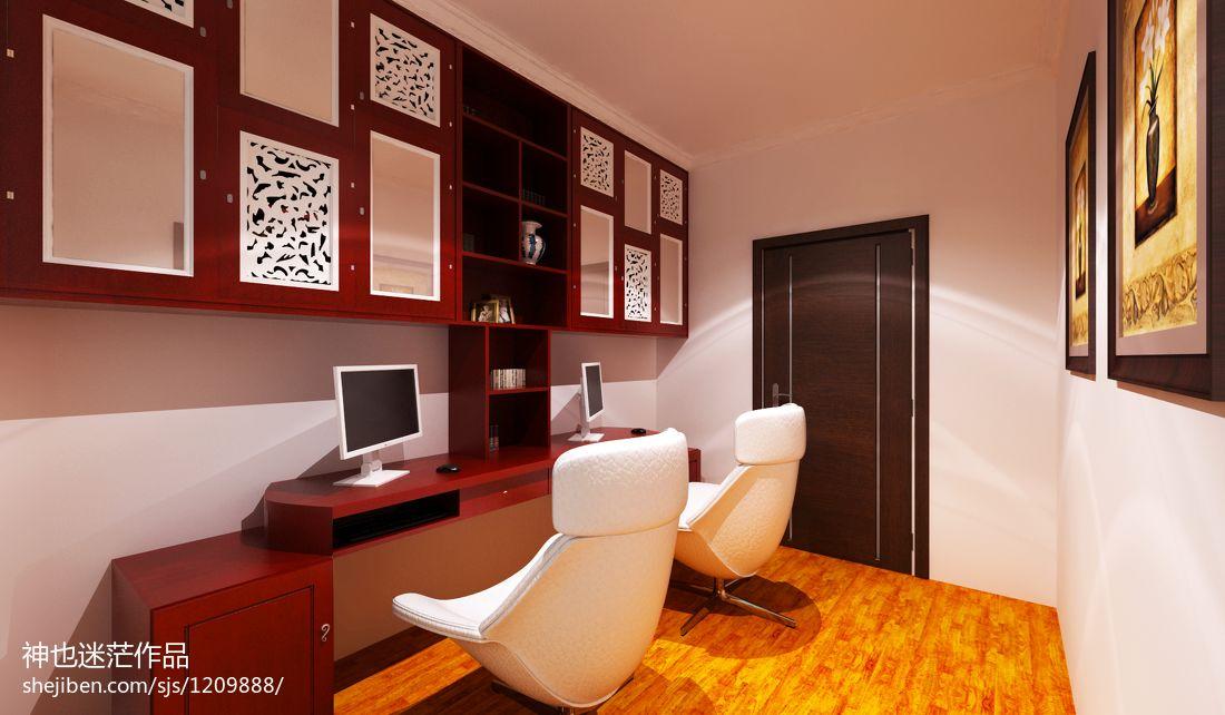 优雅36平现代小户型书房设计图功能区现代简约功能区设计图片赏析