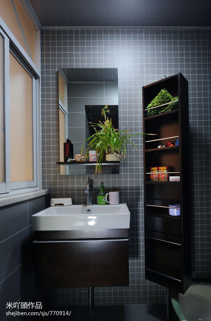 2018现代三居卫生间实景图片欣赏卫生间现代简约卫生间设计图片赏析