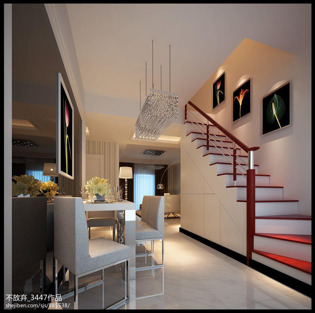 质朴42平现代复式餐厅实拍图厨房现代简约餐厅设计图片赏析