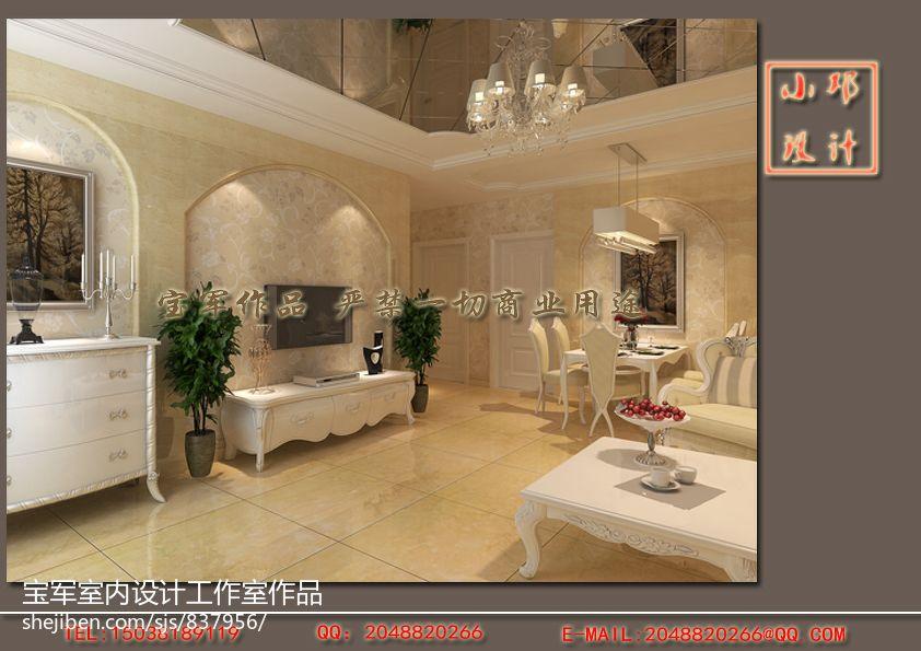 简洁99平欧式三居餐厅效果图片大全厨房欧式豪华餐厅设计图片赏析