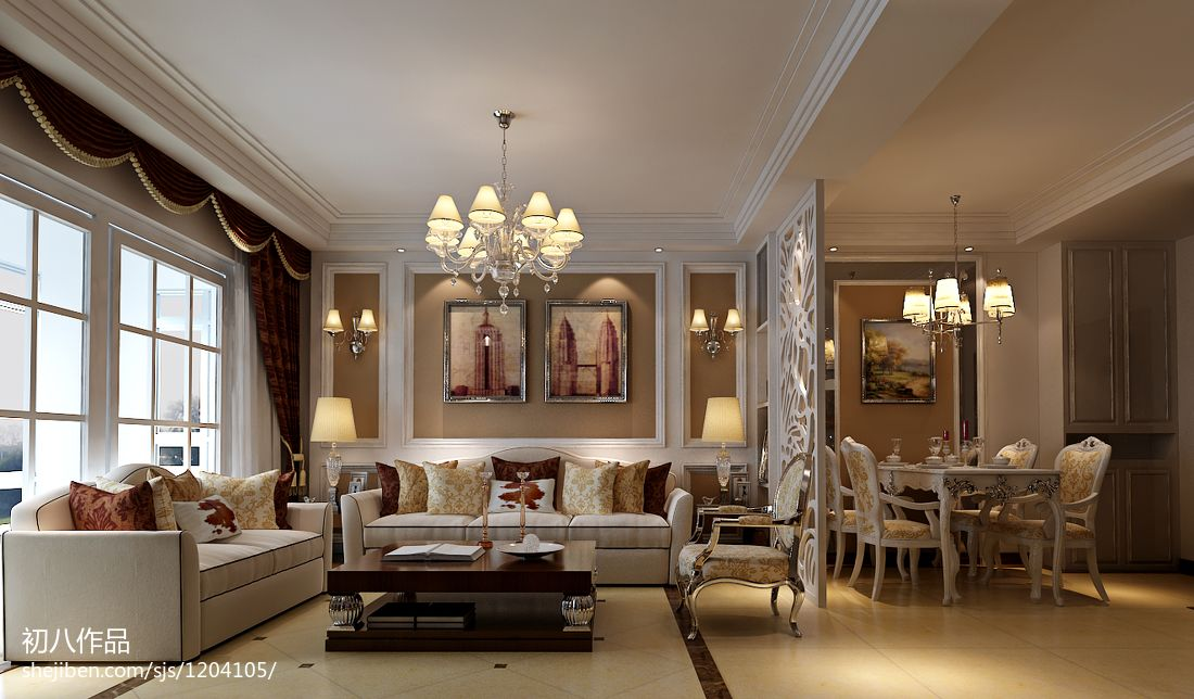 2018面积71平欧式二居客厅装修图片欣赏客厅欧式豪华客厅设计图片赏析