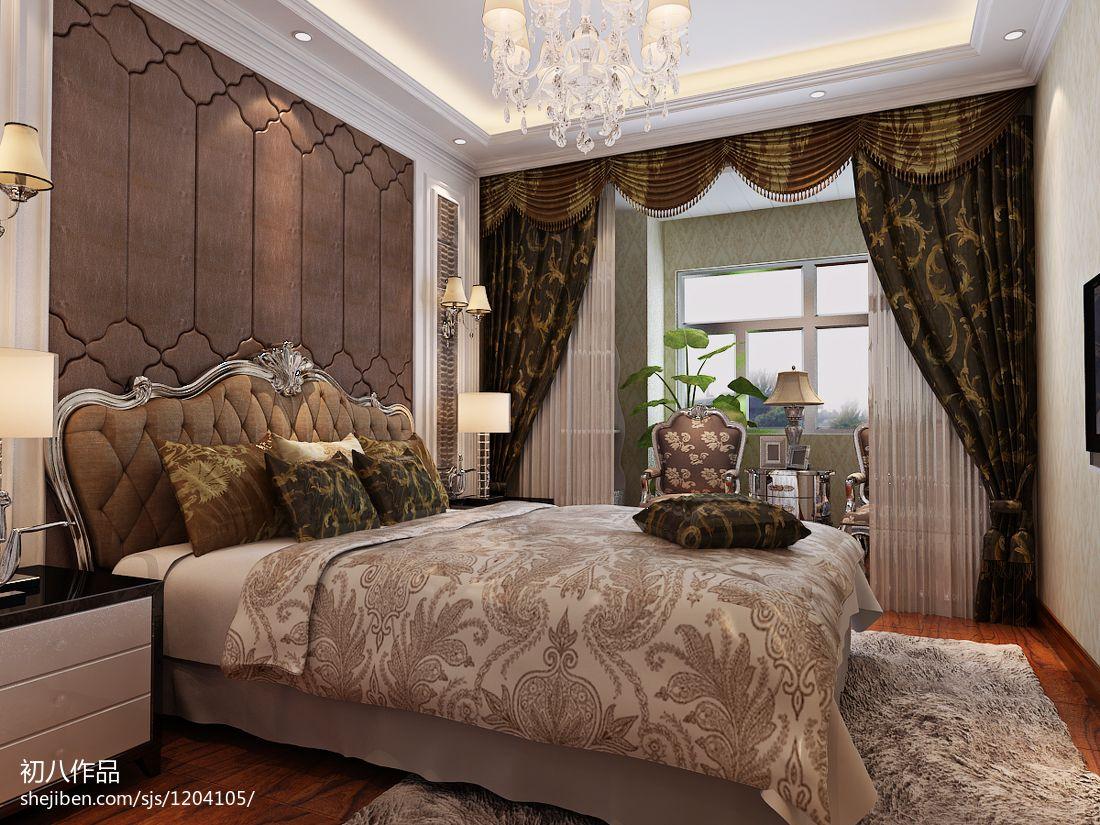热门面积90平新古典三居卧室装修图片欣赏卧室美式经典卧室设计图片赏析