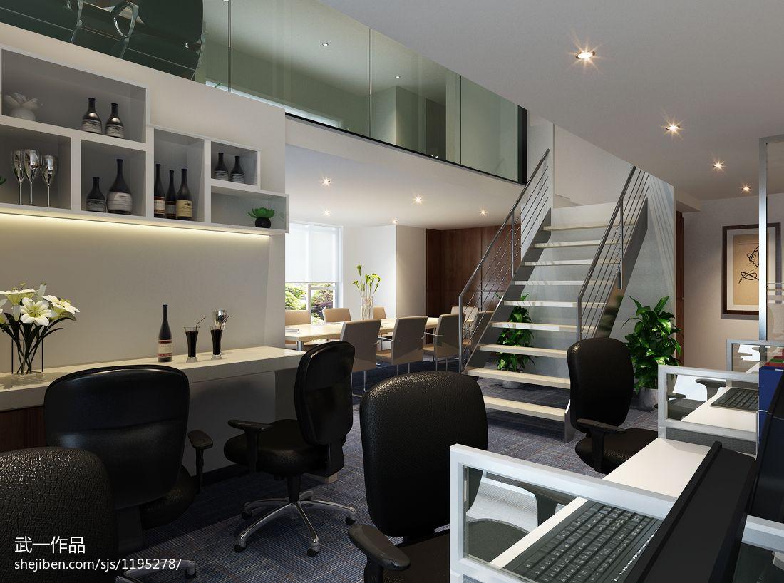 现代办公室隔层办公空间设计图片赏析