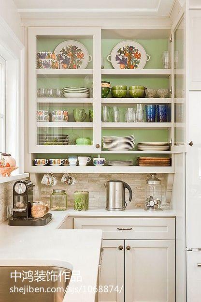 悠雅88平欧式二居厨房装修装饰图餐厅欧式豪华厨房设计图片赏析