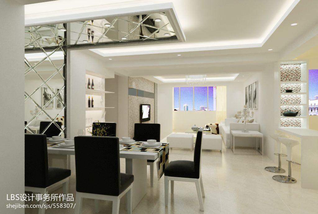 精选面积137平现代四居餐厅装修设计效果图厨房现代简约餐厅设计图片赏析