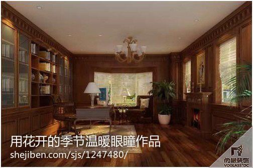 简洁352平欧式别墅书房装修装饰图功能区欧式豪华功能区设计图片赏析