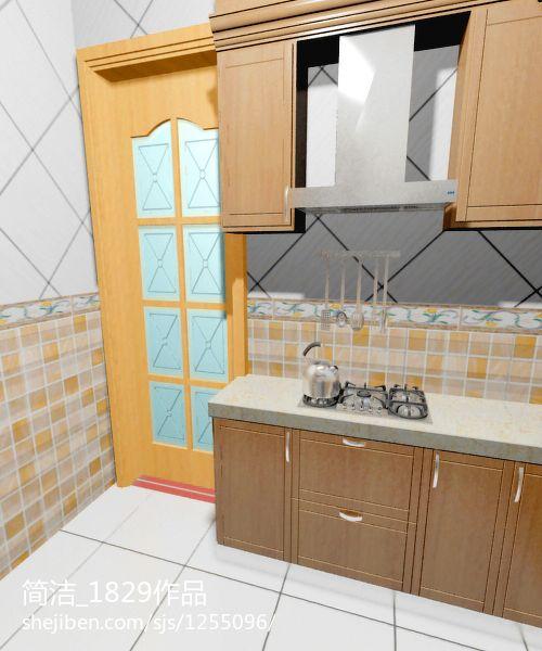 优雅26平现代小户型厨房装修设计图餐厅现代简约厨房设计图片赏析