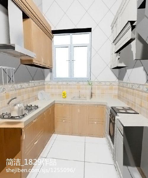 华丽38平现代小户型厨房设计图餐厅现代简约厨房设计图片赏析