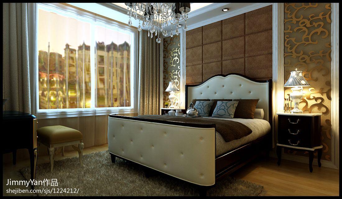 热门面积104平欧式三居卧室装饰图片大全卧室欧式豪华卧室设计图片赏析