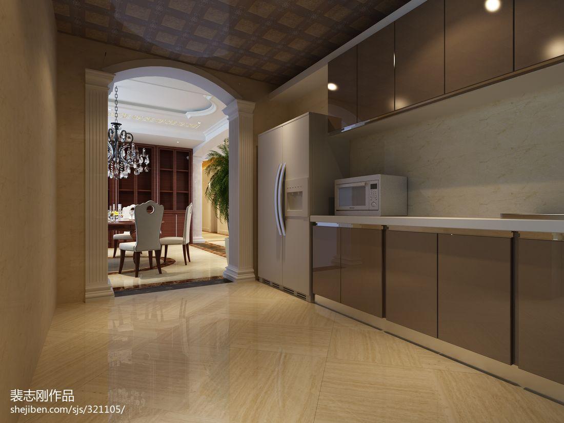 热门欧式四居厨房装修图片大全餐厅橱柜欧式豪华厨房设计图片赏析