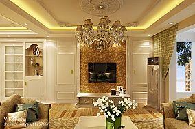 美式风格时尚客厅电视背景墙家居图片