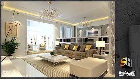 美式客厅天格地板