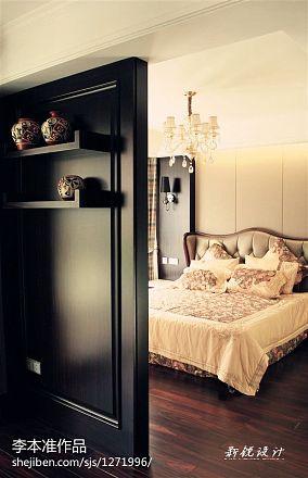 2018精选面积96平欧式三居卧室装修效果图片欣赏