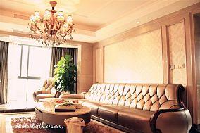 2018精选大小105平欧式三居客厅装修图片大全
