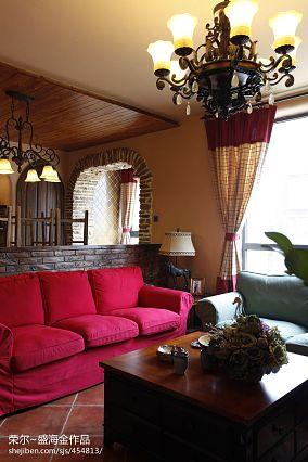 精选83平米二居客厅美式装修欣赏图