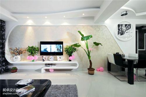 109平米三居客厅现代装修图片客厅电视背景墙三居现代简约家装装修案例效果图