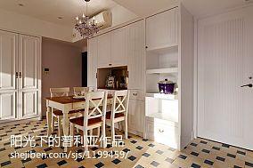 热门面积100平美式三居餐厅装修实景图
