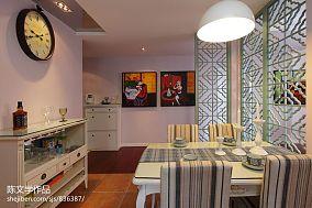 精美91平米三居餐厅新古典欣赏图