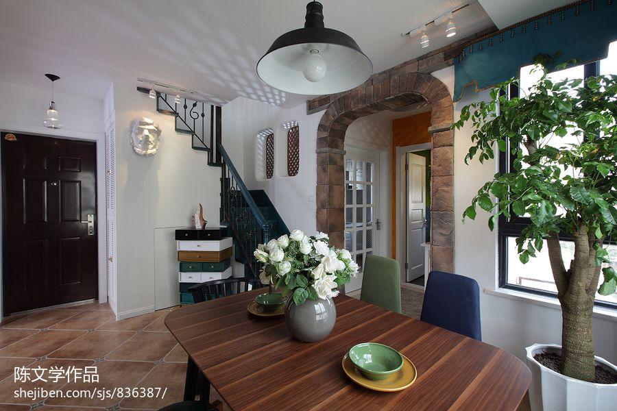 新古典餐厅垭口装修效果图厨房美式经典餐厅设计图片赏析