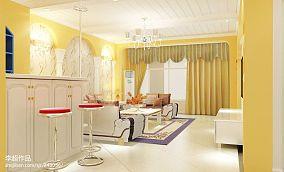 热门面积81平地中海二居客厅装修设计效果图