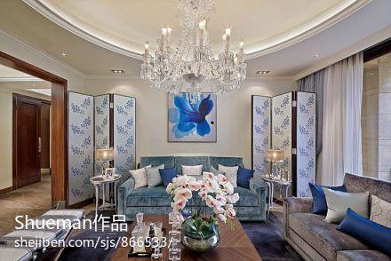 精美面积94平新古典三居客厅装修效果图片欣赏
