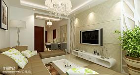 简欧客厅吊灯设计效果图