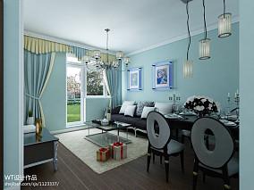 热门面积75平小户型客厅新古典装修欣赏图片大全