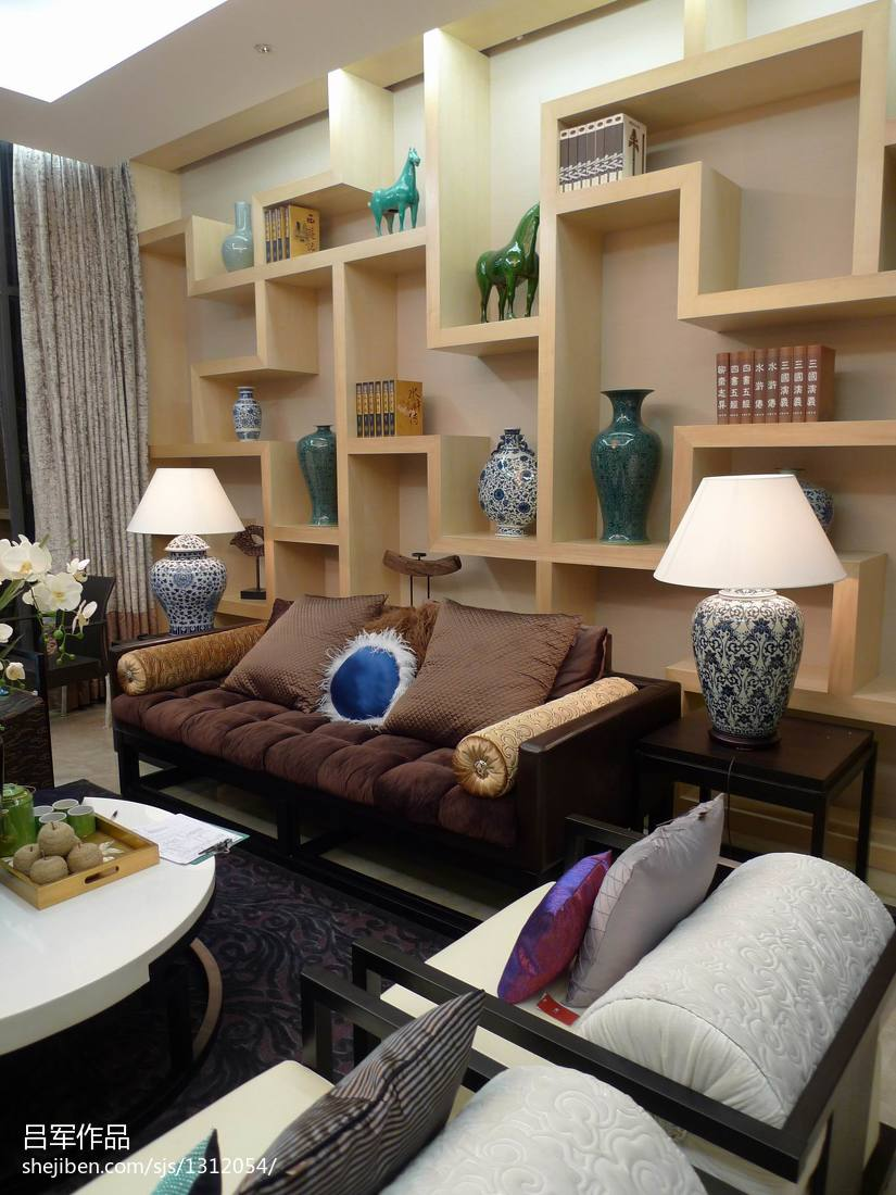 中式板房客厅置物架装修效果图功能区其他功能区设计图片赏析