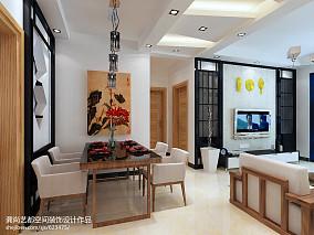 质朴110平中式三居餐厅装饰图片