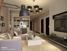 后现代室内客厅隔断设计效果图