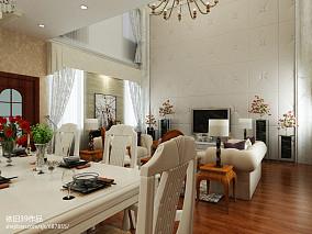 面积140平复式客厅欧式装修实景图片欣赏