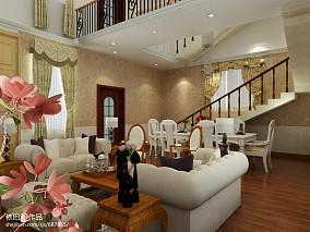 面积113平复式客厅欧式装修效果图片大全