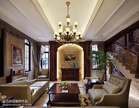 热门大小128平别墅客厅中式装修实景图片大全