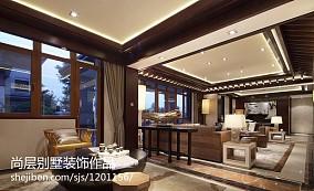 精美124平米中式别墅休闲区装修效果图