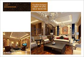 质朴360平别墅客厅装修美图
