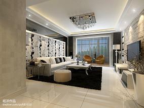 101平大小客厅三居现代装修设计效果图
