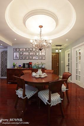 热门81平米二居餐厅美式实景图片欣赏厨房设计图片赏析