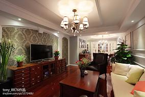 平米二居客厅美式装修图片客厅美式经典设计图片赏析
